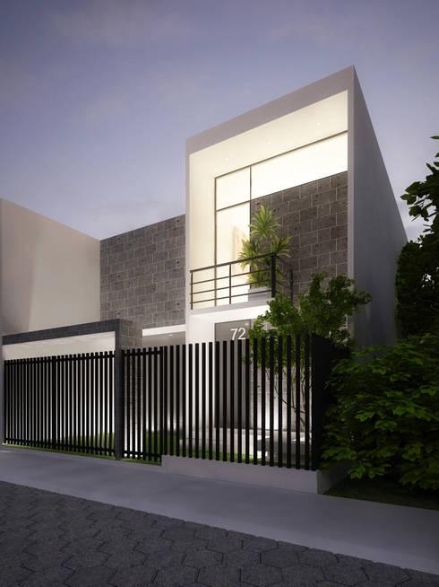 VIVIENDA: Casas de estilo  por Elementum Arquitectos SAS