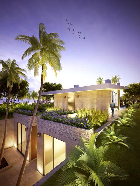 VIVIENDA CAMPESTRE: Casas de estilo  por Elementum Arquitectos SAS