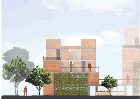 VIVIENDA SOCIAL:  de estilo  por Elementum Arquitectos SAS