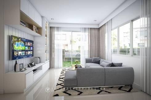 โครงการออกแบบตกแต่งภายในบ้านพักอาศัย 2 ชั้นGolden NEO บางนา:   by YPinteriorDesign