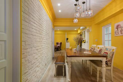 色彩宮殿 Temperature of color:  餐廳 by Glocal Architecture Office (G.A.O) 吳宗憲建築師事務所/安藤國際室內裝修工程有限公司