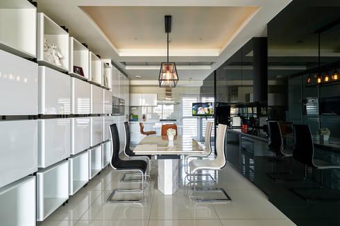 太極 Yin Yang:  餐廳 by Glocal Architecture Office (G.A.O) 吳宗憲建築師事務所/安藤國際室內裝修工程有限公司