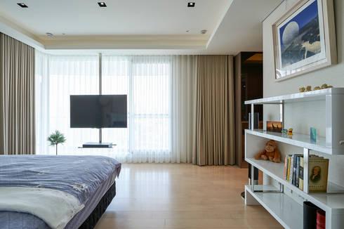 太極 Yin Yang:  臥室 by Glocal Architecture Office (G.A.O) 吳宗憲建築師事務所/安藤國際室內裝修工程有限公司