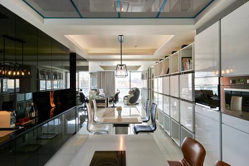 太極 Yin Yang:  廚房 by Glocal Architecture Office (G.A.O) 吳宗憲建築師事務所/安藤國際室內裝修工程有限公司