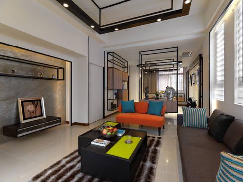 家 是生活的容器 Home: The retainer of life:  客廳 by Glocal Architecture Office (G.A.O) 吳宗憲建築師事務所/安藤國際室內裝修工程有限公司