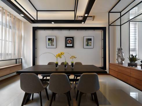 家 是生活的容器 Home: The retainer of life:  餐廳 by Glocal Architecture Office (G.A.O) 吳宗憲建築師事務所/安藤國際室內裝修工程有限公司