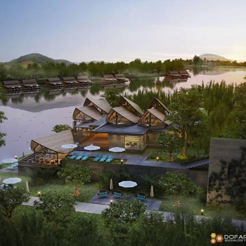 รีสอร์ทริมแม่น้ำแคว:   by DofArch 3D visualizer Thailand