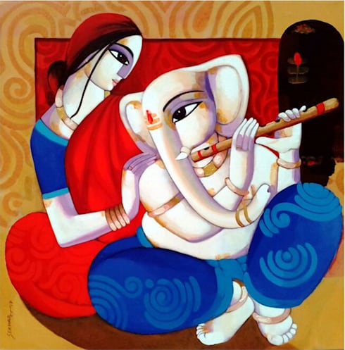 """Ganesh Janani"":  Artwork by Indian Art Ideas"