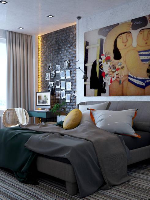 Bedroom by Interior designers Pavel and Svetlana Alekseeva