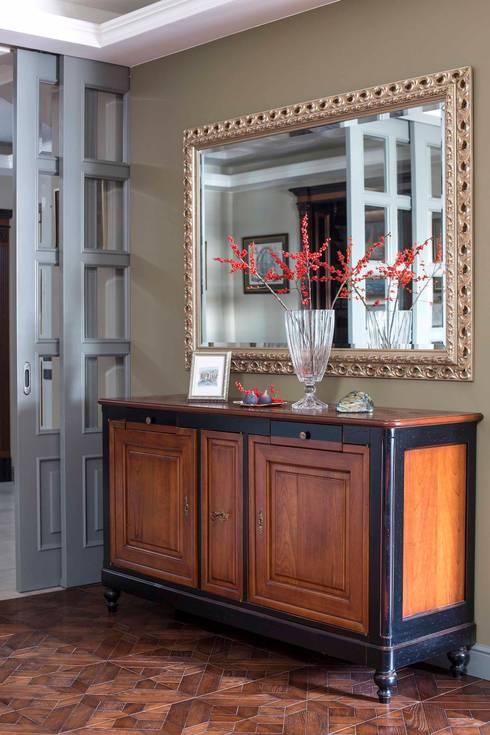غرفة المعيشة تنفيذ Dots&points interior design studio