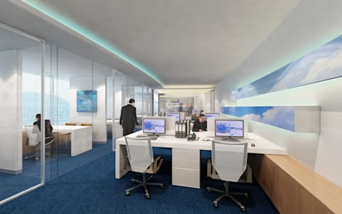 FLY GUAM HEADQUARTERS / OCEAN CENTRE - TST :  Office buildings by M2A Design