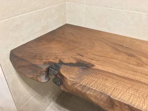Top bagno in noce nazionale di bruno spreafico homify - Top bagno legno massello ...