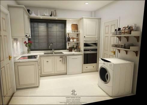 ภาพ 3มิติ ห้องครัว : 3D Perspective Kitchenroom:  ห้องครัว by เหนือ ดีไซน์ สตูดิโอ (North Design Studio)