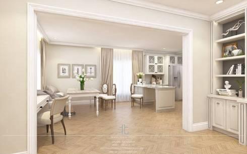 ภาพ 3มิติ พื้นที่รับแขก : 3D Perspective Living Area:  ห้องทานข้าว by เหนือ ดีไซน์ สตูดิโอ (North Design Studio)
