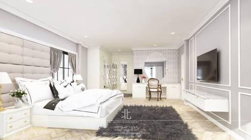 ภาพ 3มิติ ห้องนอนใหญ่ : 3D Perspective Master Bedroom:  ห้องนอน by เหนือ ดีไซน์ สตูดิโอ (North Design Studio)