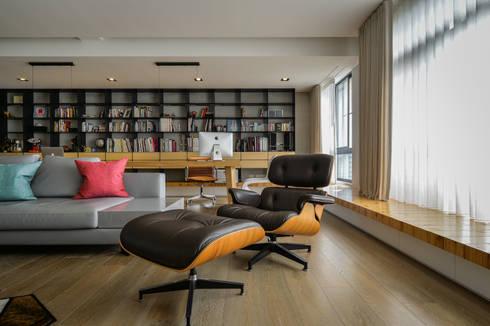 格子趣:  客廳 by 參與室內設計有限公司