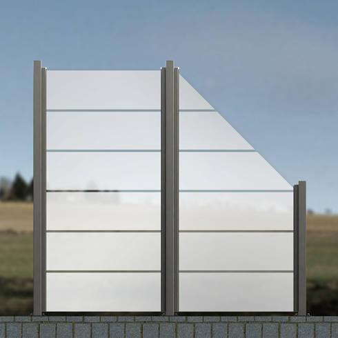 glaszaun zaun aus glas als wind und sichtschutz f r garten terrasse von zaun aus glas homify. Black Bedroom Furniture Sets. Home Design Ideas