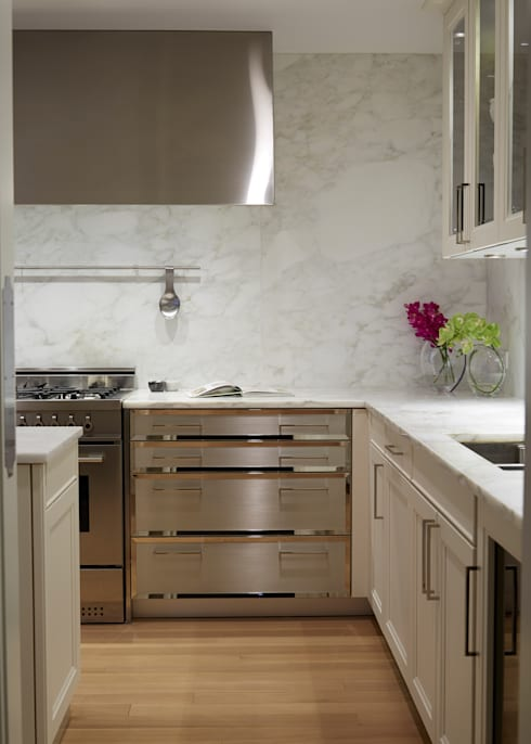 New York City Family Home: classic Kitchen by JKG Interiors