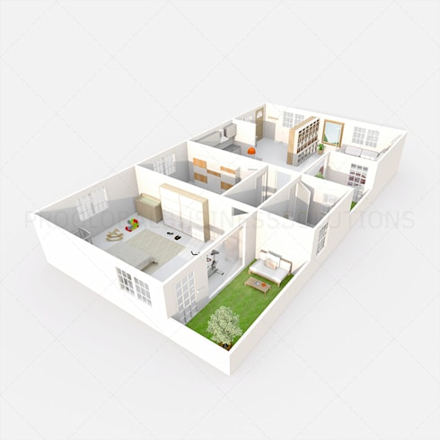 House 3D floor plan:   by Proglobalbusinesssolutions