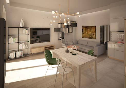 Mieszkanie art deco door puku studio homify