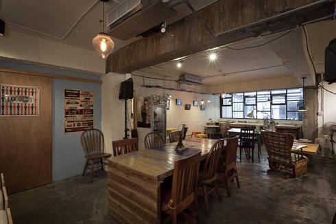 穿越九千公里交給你   Travelled 9000 km( Laundry & Coffee shop):  商業空間 by 丰墨設計   Formo design studio