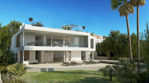 Refurbishment of existing house and pool in Santa Ponsa: modern Houses by Tono Vila Architecture & Design