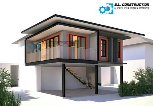 งานฐานรากต่อเติมบ้าน 2 ชั้น คุณจุ้ม:   by บริษัทเข็มเหล็ก จำกัด