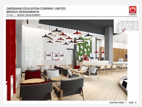 งานตกแต่งภายในของสถาบันกวดวิชา ณ ศูนย์การค้า Platform:   by Inthenorth Design Co.,Ltd