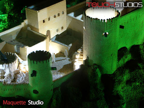 مجسم معماري (ماكيت) لقلعة نخل بعمان:   تنفيذ Touch-studios