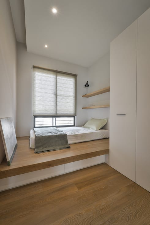 格子趣:  臥室 by 參與室內設計有限公司