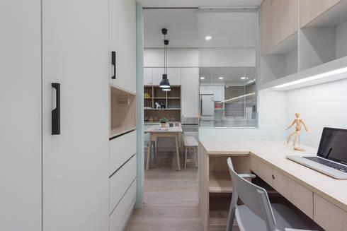 清新自然居:  書房/辦公室 by 倍果設計有限公司