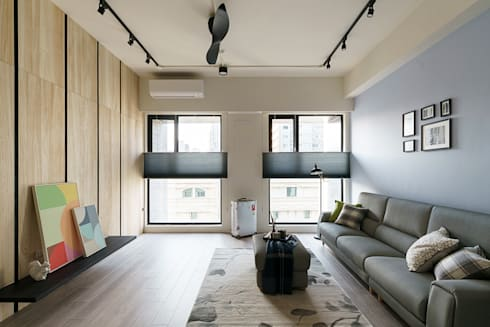無邊光色 歸國夫妻的北歐新婚宅:  客廳 by 羽筑空間設計
