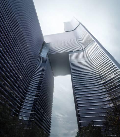 Nansha Kingboard Free Trade Zone Mixed-use Project, Guangzhou, China:   by Aedas