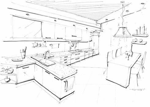 Bozzetti di luca tomei design interiors homify for Misure standard cucina