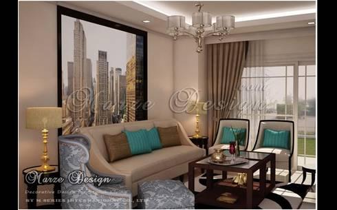 ห้องรับแขก - Modern Classic Mediterranean Style:   by Marze Design