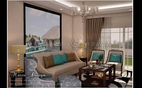 ห้องรับแขก – Modern Classic Mediterranean Style:   by Marze Design