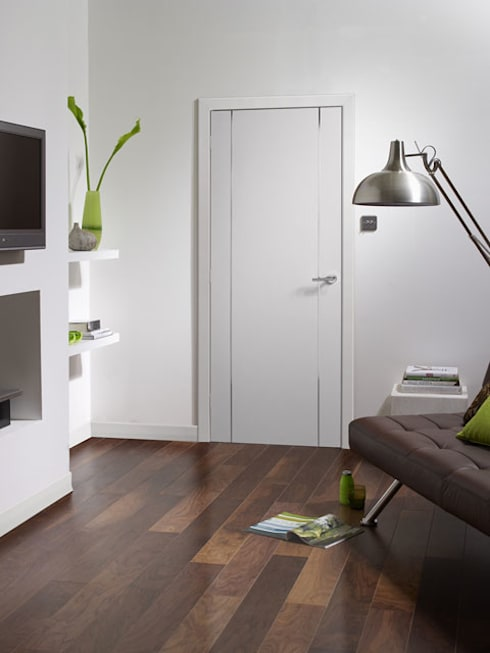 Forli White Internal Door:  Windows & doors  by Modern Doors Ltd