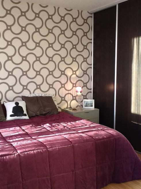 REMODELACION Y PUESTA EN VALOR TRIPLEX EN COLEGIALES: Dormitorios de estilo  por Arquitecta MORIELLO