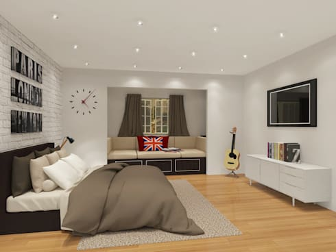 Bedroom 3D Design #1:  ห้องนอน by SIAMTAK CO., LTD.