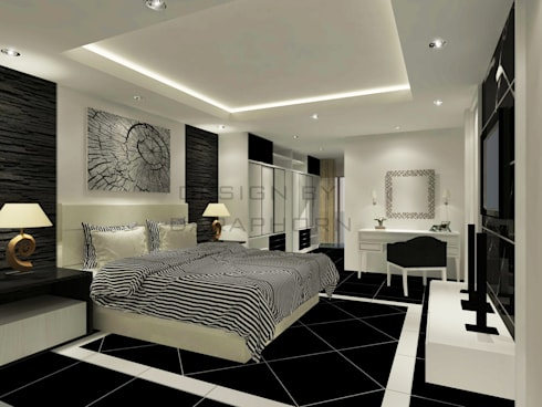 Bedroom 3D Design #2:  ห้องนอน by SIAMTAK CO., LTD.