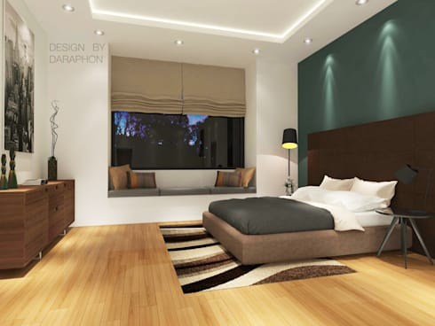 Bedroom 3D Design #3:  ห้องนอน by SIAMTAK CO., LTD.