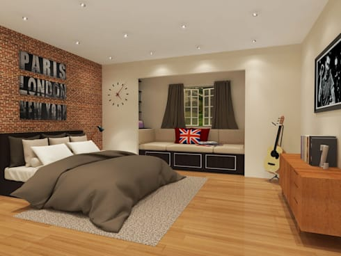 Bedroom 3D Design #4:  ห้องนอน by SIAMTAK CO., LTD.