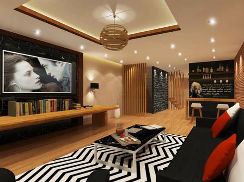 Living Room 3D Design #4:  ห้องนั่งเล่น by SIAMTAK CO., LTD.