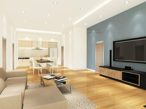 Living Room 3D Design #5:  ห้องนั่งเล่น by SIAMTAK CO., LTD.