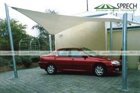 Car Canopy:   by Sprech Tenso-Structures Pvt. Ltd.
