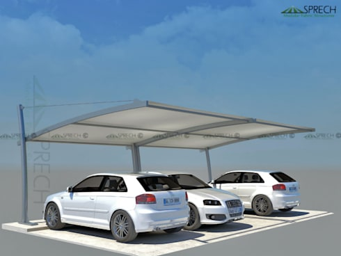 Car Parking Shades:   by Sprech Tenso-Structures Pvt. Ltd.