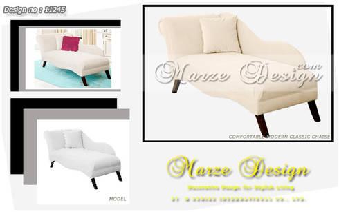 เก้าอี้พักผ่อนแบบมีพนักพิงและที่วางแขน ( Chaise loung chair ):   by Marze Design