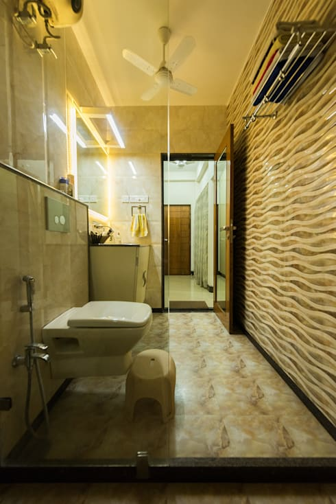 Sanchetna: modern Bathroom by Ankit Goenka