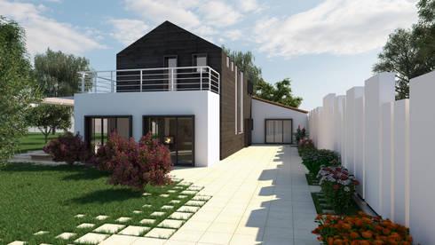 Villa contemporanea sul litorale romano di fad fucine for Design esterni case
