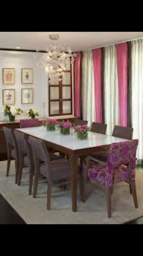 Upholstery : classic Dining room by Instyle Decorators